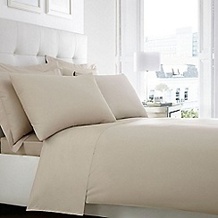 Home Collection - Taupe Egyptian cotton 200 thread count duvet cover