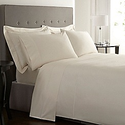 J by Jasper Conran - Ivory Supima cotton 500 thread count flat sheet