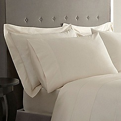 J by Jasper Conran - Ivory Supima cotton 500 thread count oxford pillow case pair