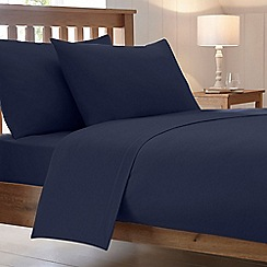 Home Collection - Navy 180 thread count brushed cotton flannelette duvet cover