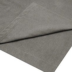 Home Collection - Grey brushed cotton flannelette 200 thread count flat sheet