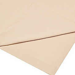 Home Collection - Beige 180 thread count brushed cotton flannelette flat sheet