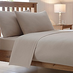 Home Collection - Beige 180 thread count brushed cotton flannelette duvet cover