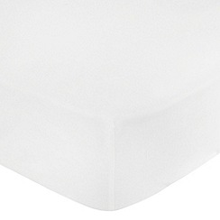 Debenhams - White Brushed Cotton Flannelette Fitted Sheet