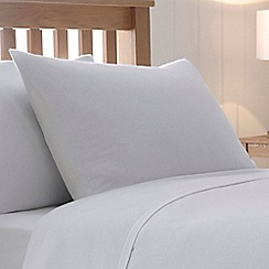 Home Collection - White brushed cotton flannelette 200 thread count pillow case pair