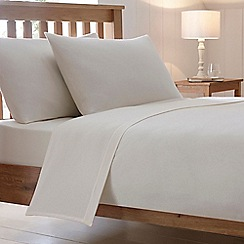 Debenhams - Cream Brushed Cotton Flannelette Duvet Cover