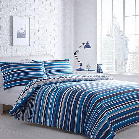 Home Collection Basics Blue Striped Jackson Bedding Set Debenhams. debenhams bedding and curtains   Nrtradiant com