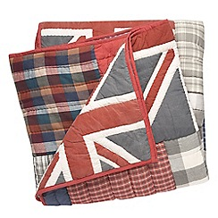 Home Collection - Multi-coloured Union Jack print throw