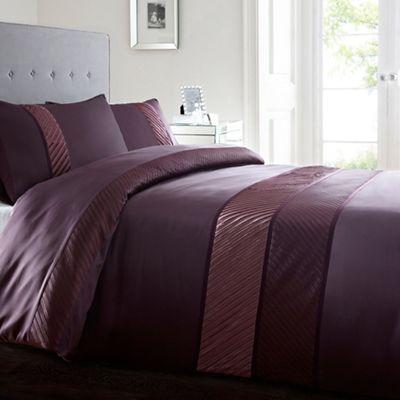Home Collection Purple 39 Toronto 39 Bedding Set Debenhams
