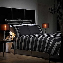 J by Jasper Conran - Black 260 thread count 'Park Avenue' duvet cover