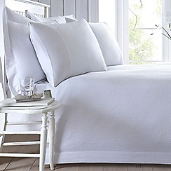 J by Jasper Conran - White 200 thread count 'Dorset' duvet cover