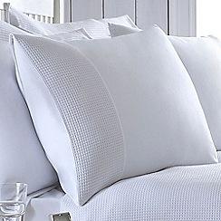 J by Jasper Conran - White 200 thread count 'Dorset' pillow case pair