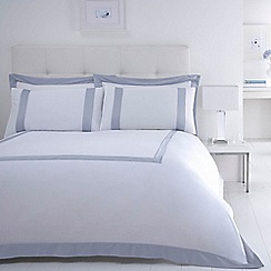 J by Jasper Conran - White 240 thread count 'Dorchester' duvet cover