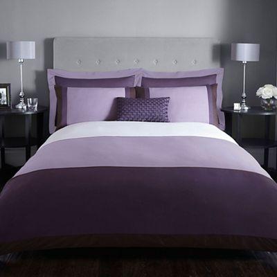 J by Jasper Conran Purple 200 thread count 'Maddox' duvet ...