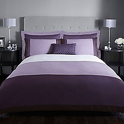 J by Jasper Conran - Purple 200 thread count 'Maddox' duvet cover