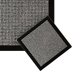 Star by Julien Macdonald - Pack of 4 black glitter coasters