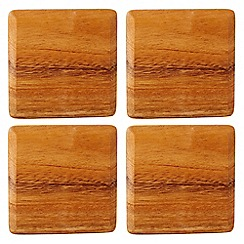 T&G Woodware - Acacia wood pack of four coasters