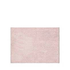 Home Collection Basics - Pale pink microfibre bobble mat