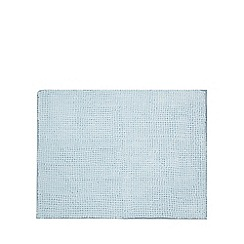 Home Collection Basics - Pale blue microfibre bobble mat