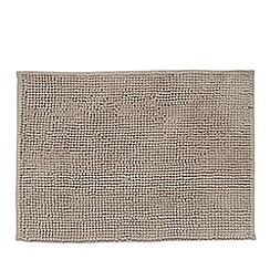 Debenhams - Taupe bobble textured bath mat