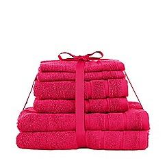 Home Collection Basics - Pink super-soft towel bale