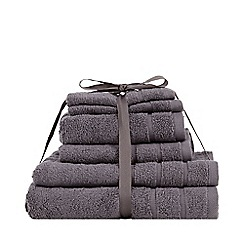 Debenhams - Dark Grey Super-Soft Cotton Towel Bale