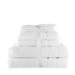 Debenhams - White Super-Soft Cotton Towel Bale