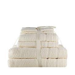 Home Collection Basics - Cream super-soft cotton towel bale