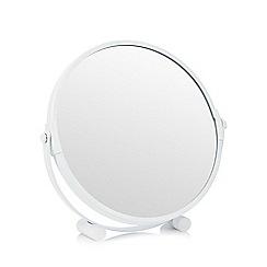 Debenhams - White round rotating mirror