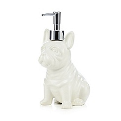 Ben de Lisi Home - White dog ceramic soap dispenser