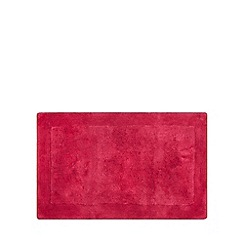 Home Collection - Bright pink cotton tufted bath mat