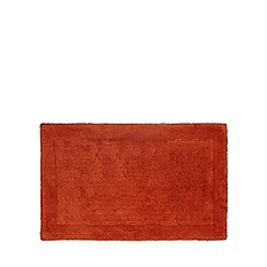 Home Collection - Dark orange tufted bath mat