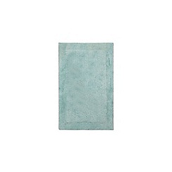 Home Collection - Light turquoise cotton tufted bath mat
