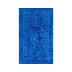 Home Collection - Royal blue cotton tufted bath mat