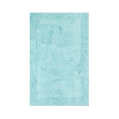 Home Collection - Light blue cotton tufted bath mat