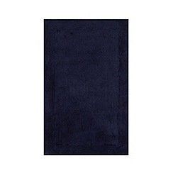 Home Collection - Dark blue cotton tufted bath mat
