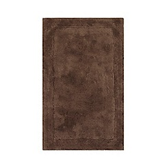 Home Collection - Brown cotton tufted bath mat