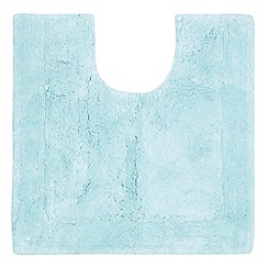 Home Collection - Light blue cotton tufted pedestal mat