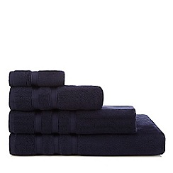 J by Jasper Conran - Navy 'Hotel' Luxury Turkish Cotton Towels