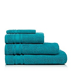 Home Collection Basics - Dark Turquoise 'Zero Twist' Cotton Towels