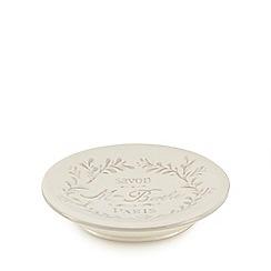 Home Collection - White Paris motif soap dish