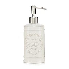 Home Collection - White Paris motif soap dispenser