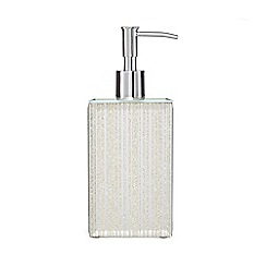 Star by Julien Macdonald - Silver glitter line soap dispenser
