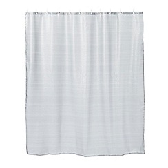 Star by Julien Macdonald - Silver glitter striped shower curtain