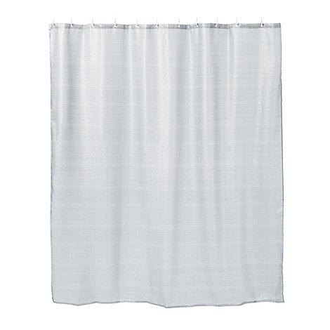 Star By Julien Macdonald Silver Glitter Striped Shower Curtain