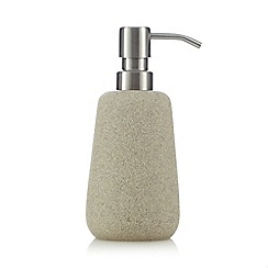 RJR.John Rocha - Beige stone soap dispenser