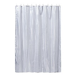 Home Collection - White striped shower curtain
