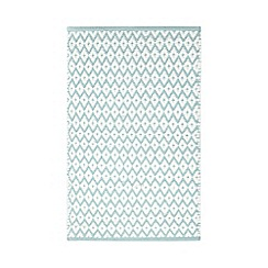 Home Collection - Aqua textured diamond print bath mat