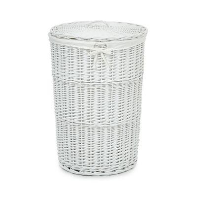 home collection white wicker laundry basket debenhams. Black Bedroom Furniture Sets. Home Design Ideas