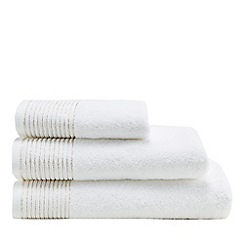Star by Julien Macdonald - White glitter hem towel